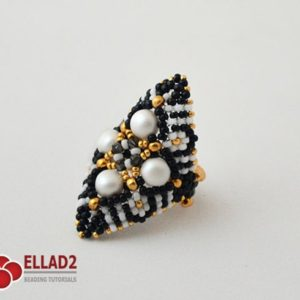 Shop Jewelry Making Tutorials! Tutorial Zazu Ring-Beading Tutorial, Beading Pattern,Jewelry tutorial,Ellad2 | Shop jewelry making and beading supplies, tools & findings for DIY jewelry making and crafts. #jewelrymaking #diyjewelry #jewelrycrafts #jewelrysupplies #beading #affiliate #ad