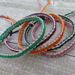 Shop Hemp Jewelry Making Supplies! Two Color Hemp Bracelet for Men or Women / Adjustable Hemp Jewelry / Gift for Men / Teen Gifts / Co-Worker Gift Idea / Stocking Stuffers | Shop jewelry making and beading supplies, tools & findings for DIY jewelry making and crafts. #jewelrymaking #diyjewelry #jewelrycrafts #jewelrysupplies #beading #affiliate #ad