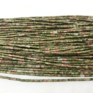 Shop Unakite Bead Shapes! Genuine Unikite 2x4mm Column Green Pink Unakite Gemstone Tube Loose Beads 15 inch Jewelry Supply Bracelet Necklace Material Wholesale | Natural genuine other-shape Unakite beads for beading and jewelry making.  #jewelry #beads #beadedjewelry #diyjewelry #jewelrymaking #beadstore #beading #affiliate #ad