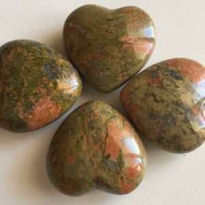 Shop Unakite Shapes! Unakite Gemstone Puffy Heart, 45mm, Spiritual Healing Stone, Healing Stone, Healing Crystal, Chakra | Natural genuine stones & crystals in various shapes & sizes. Buy raw cut, tumbled, or polished gemstones for making jewelry or crystal healing energy vibration raising reiki stones. #crystals #gemstones #crystalhealing #crystalsandgemstones #energyhealing #affiliate #ad