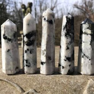 Shop Moonstone Stones & Crystals! Rainbow Moonstone Tower Generator Point | Natural genuine stones & crystals in various shapes & sizes. Buy raw cut, tumbled, or polished gemstones for making jewelry or crystal healing energy vibration raising reiki stones. #crystals #gemstones #crystalhealing #crystalsandgemstones #energyhealing #affiliate #ad