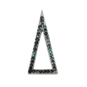 Shop Alexandrite Pendants! Upward Ascending Round Cut Natural Alexandrite Gemstone Triangle Pendant in 14K White Gold | Natural genuine Alexandrite pendants. Buy crystal jewelry, handmade handcrafted artisan jewelry for women.  Unique handmade gift ideas. #jewelry #beadedpendants #beadedjewelry #gift #shopping #handmadejewelry #fashion #style #product #pendants #affiliate #ad