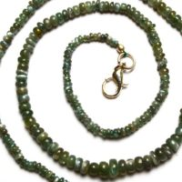 Very Very Rare Natural Gem Alexandrite Chrysoberyl Smooth 3 To 6mm Rondelle Beads Necklace 16″ Strand Finished Necklace Rare Natural Alex | Natural genuine Gemstone jewelry. Buy crystal jewelry, handmade handcrafted artisan jewelry for women.  Unique handmade gift ideas. #jewelry #beadedjewelry #beadedjewelry #gift #shopping #handmadejewelry #fashion #style #product #jewelry #affiliate #ad