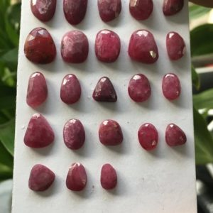 Shop Ruby Shapes! Very rare natural ruby rosecut lot mix shapes freeform pcs 23 weight 51.55 cts  size 6.5×6 to 12.5x8mm unheated untreated natural ruby cut | Natural genuine stones & crystals in various shapes & sizes. Buy raw cut, tumbled, or polished gemstones for making jewelry or crystal healing energy vibration raising reiki stones. #crystals #gemstones #crystalhealing #crystalsandgemstones #energyhealing #affiliate #ad