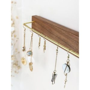 Shop Storage for Beading Supplies! Wall Jewelry Rack, Wood Jewelry Rack, Wall Jewelry Hanger, Wood Jewelry Display,  Necklace organizer wall, Jewelry wall organizer | Shop jewelry making and beading supplies, tools & findings for DIY jewelry making and crafts. #jewelrymaking #diyjewelry #jewelrycrafts #jewelrysupplies #beading #affiliate #ad