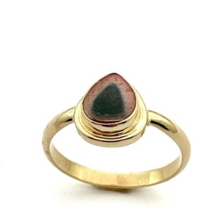 Shop Watermelon Tourmaline Rings! Watermelon Tourmaline Ring in 14k Gold,October Birthstone Ring, Tourmaline Statement Ring, Womens Gold Ring With Gemstone, Stacking ring | Natural genuine Watermelon Tourmaline rings, simple unique handcrafted gemstone rings. #rings #jewelry #shopping #gift #handmade #fashion #style #affiliate #ad