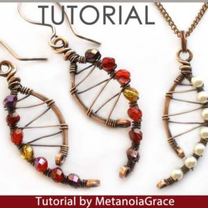 Shop Jewelry Making Tutorials! Wire Jewelry Tutorial, Wirewrapping Jewelry Tutorial, Pendant Tutorial, Spiral Earrings Tutorial, Beading Tutorial, Curved Earrings Tutorial | Shop jewelry making and beading supplies, tools & findings for DIY jewelry making and crafts. #jewelrymaking #diyjewelry #jewelrycrafts #jewelrysupplies #beading #affiliate #ad