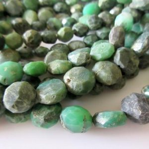Shop Chrysoprase Bead Shapes! 9mm Chrysoprase Faceted Button Beads, Raw Looking Chrysoprase Flat Coin Rondelles, 14 Inch Strand, GDS10 | Natural genuine other-shape Chrysoprase beads for beading and jewelry making.  #jewelry #beads #beadedjewelry #diyjewelry #jewelrymaking #beadstore #beading #affiliate #ad