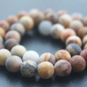Shop Crazy Lace Agate Beads! Matte Yellow Crazy Lace Agate Round Beads,6mm/8mm/10mm/12mm Crazy Lace Agate Beads,15 inches one starand | Natural genuine beads Agate beads for beading and jewelry making.  #jewelry #beads #beadedjewelry #diyjewelry #jewelrymaking #beadstore #beading #affiliate #ad