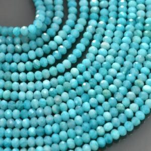 Shop Amazonite Faceted Beads! 15 Inches Strand Amazonite Faceted Rondelle Beads Strands | Amazonite Rondelle Bead | Amazonite Beads | Amazonite Faceted Beads | Natural genuine faceted Amazonite beads for beading and jewelry making.  #jewelry #beads #beadedjewelry #diyjewelry #jewelrymaking #beadstore #beading #affiliate #ad