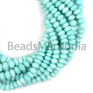 Shop Amazonite Rondelle Beads! Amazonite Plain Natural Rondelle Shape Beads, Natural Amazonite Beads, Amazonite Rondelle Beads, Plain Rondelle(7-9mm) Shape Amazonite Beads | Natural genuine rondelle Amazonite beads for beading and jewelry making.  #jewelry #beads #beadedjewelry #diyjewelry #jewelrymaking #beadstore #beading #affiliate #ad