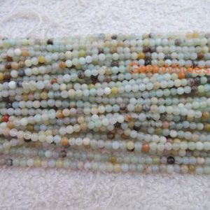 "Shop Amazonite Round Beads! 15.5"" Natural amazonite 2mm round beads, Green gemstone, semi-precious stone, small green color DIY beads, gemstone wholesaler 