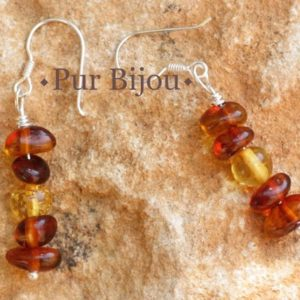 Shop Amber Earrings! Earrings natural amber Baltic 40mm | Natural genuine Amber earrings. Buy crystal jewelry, handmade handcrafted artisan jewelry for women.  Unique handmade gift ideas. #jewelry #beadedearrings #beadedjewelry #gift #shopping #handmadejewelry #fashion #style #product #earrings #affiliate #ad