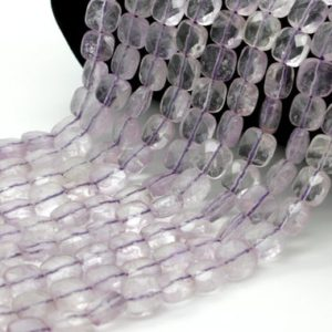 Shop Amethyst Faceted Beads! Natural Amethyst Transparent Purple Flat Faceted Square Loose Gemstone Beads | Natural genuine faceted Amethyst beads for beading and jewelry making.  #jewelry #beads #beadedjewelry #diyjewelry #jewelrymaking #beadstore #beading #affiliate #ad