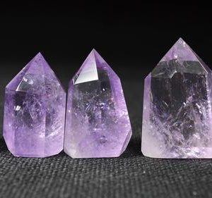 Shop Amethyst Points & Wands! Best Clear Natural Amethyst Point/Natural Amethyst Tower/Purple Crystal Ornaments/Amethyst decoration/Crystal Grid-Approx. 45mm in height | Natural genuine stones & crystals in various shapes & sizes. Buy raw cut, tumbled, or polished gemstones for making jewelry or crystal healing energy vibration raising reiki stones. #crystals #gemstones #crystalhealing #crystalsandgemstones #energyhealing #affiliate #ad
