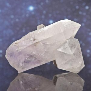 """Shop Raw & Rough Amethyst Stones! Brandberg Light Amethyst Crystals Cluster from Namibia   Chlorite and Lodolite Inclusions   2.67""""   99.7 grams   Natural genuine stones & crystals in various shapes & sizes. Buy raw cut, tumbled, or polished gemstones for making jewelry or crystal healing energy vibration raising reiki stones. #crystals #gemstones #crystalhealing #crystalsandgemstones #energyhealing #affiliate #ad"""