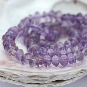 Shop Amethyst Beads! Amethyst natural Handmade Rondelle Disc Beads 4-4.5 mm approx Lilac Brazilian  Gemstone Beads Cape Amethyst Beads February Birthstone | Natural genuine beads Amethyst beads for beading and jewelry making.  #jewelry #beads #beadedjewelry #diyjewelry #jewelrymaking #beadstore #beading #affiliate #ad