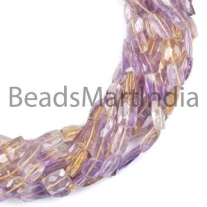 Shop Ametrine Faceted Beads! Faceted Ametrine Cushion, Flat Cushion, Ametrine Faceted Gemstone Beads, Ametrine Beads, Ametrine   Natural genuine faceted Ametrine beads for beading and jewelry making.  #jewelry #beads #beadedjewelry #diyjewelry #jewelrymaking #beadstore #beading #affiliate #ad