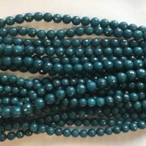 Shop Angelite Beads! angelite 8mm 10mm faceted round beads -15 inch gemstone beads | Natural genuine faceted Angelite beads for beading and jewelry making.  #jewelry #beads #beadedjewelry #diyjewelry #jewelrymaking #beadstore #beading #affiliate #ad