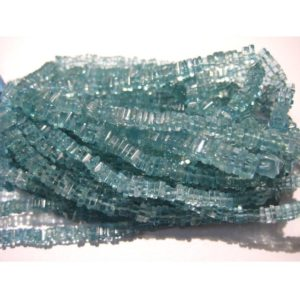 4mm Blue Apatite Square Heishi, Blue Apatite Spacer Square Beads, Blue Apatite Flat Square Beads In Jewelry (8IN To 16IN Options) – ABHB | Natural genuine other-shape Gemstone beads for beading and jewelry making.  #jewelry #beads #beadedjewelry #diyjewelry #jewelrymaking #beadstore #beading #affiliate #ad