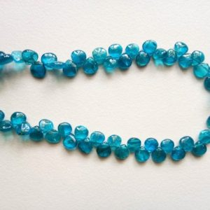 6mm Neon Blue Apatite Plain Heart Beads, Neon Apatite Briolettes, Neon Apatite Necklace, Apatite For Jewelry, (4.5IN To 9IN Options) – DVP14 | Natural genuine other-shape Gemstone beads for beading and jewelry making.  #jewelry #beads #beadedjewelry #diyjewelry #jewelrymaking #beadstore #beading #affiliate #ad