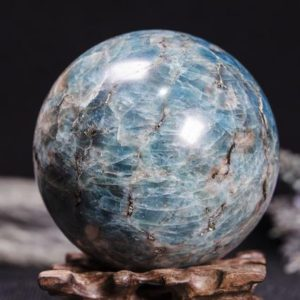Large Blue Apatite Sphere Decoration/Blue Apatite Mineral Specimens/Apatite Gemstone/Crystal Grid/Raw Blue Apatite Crystal Ball-76 mm 791 g | Natural genuine stones & crystals in various shapes & sizes. Buy raw cut, tumbled, or polished gemstones for making jewelry or crystal healing energy vibration raising reiki stones. #crystals #gemstones #crystalhealing #crystalsandgemstones #energyhealing #affiliate #ad