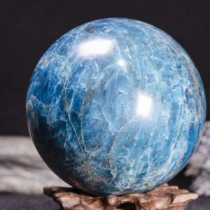 Large Blue Apatite Sphere Decoration/Blue Apatite Mineral Specimens/Apatite Gemstone/Crystal Grid/Raw Blue Apatite Crystal Ball-86 mm 1271 g | Natural genuine stones & crystals in various shapes & sizes. Buy raw cut, tumbled, or polished gemstones for making jewelry or crystal healing energy vibration raising reiki stones. #crystals #gemstones #crystalhealing #crystalsandgemstones #energyhealing #affiliate #ad