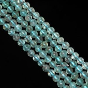 Shop Apatite Round Beads! 4mm-5mm Green Apatite Gemstone Grade A Round 4mm-5mm Loose Beads 15.5 inch Full Strand (90143199-142) | Natural genuine round Apatite beads for beading and jewelry making.  #jewelry #beads #beadedjewelry #diyjewelry #jewelrymaking #beadstore #beading #affiliate #ad