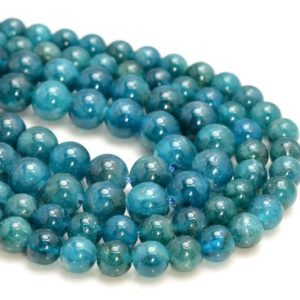 Shop Apatite Beads! Genuine Apatite Gemstone Green Blue Grade AAA Round 6mm 8mm Loose Beads (A264) | Natural genuine beads Apatite beads for beading and jewelry making.  #jewelry #beads #beadedjewelry #diyjewelry #jewelrymaking #beadstore #beading #affiliate #ad