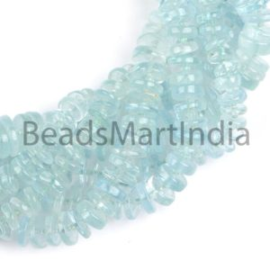Shop Aquamarine Rondelle Beads! Aquamarine Smooth Tyre Shape Beads, Aquamarine Tyre Gemstone Beads, Plain Aquamarine Beads, Tyre Aquamarine Beads, Smooth Aquamarine | Natural genuine rondelle Aquamarine beads for beading and jewelry making.  #jewelry #beads #beadedjewelry #diyjewelry #jewelrymaking #beadstore #beading #affiliate #ad