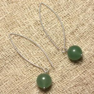 Shop Aventurine Earrings! Earrings 925 sterling silver and stone – Aventurine green 10mm | Natural genuine Aventurine earrings. Buy crystal jewelry, handmade handcrafted artisan jewelry for women.  Unique handmade gift ideas. #jewelry #beadedearrings #beadedjewelry #gift #shopping #handmadejewelry #fashion #style #product #earrings #affiliate #ad