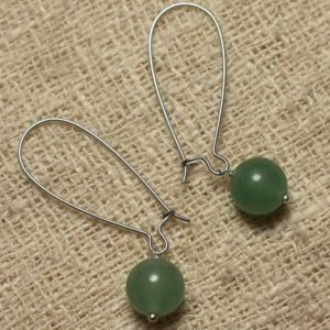 Shop Aventurine Earrings! Dangle earrings gemstone – Aventurine green 10 mm | Natural genuine Aventurine earrings. Buy crystal jewelry, handmade handcrafted artisan jewelry for women.  Unique handmade gift ideas. #jewelry #beadedearrings #beadedjewelry #gift #shopping #handmadejewelry #fashion #style #product #earrings #affiliate #ad