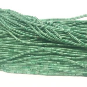 Shop Aventurine Bead Shapes! Natural Aventurine 2x4mm Column Genuine Green Loose Gemstone Tube Beads 15 inch Jewelry Supply Bracelet Necklace Material Support Wholesale | Natural genuine other-shape Aventurine beads for beading and jewelry making.  #jewelry #beads #beadedjewelry #diyjewelry #jewelrymaking #beadstore #beading #affiliate #ad