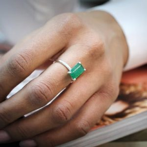 Shop Aventurine Jewelry! green aventurine ring,rectangle ring,silver ring,small ring,tiny gemstone ring,wedding ring,thin ring,simple ring | Natural genuine Aventurine jewelry. Buy handcrafted artisan wedding jewelry.  Unique handmade bridal jewelry gift ideas. #jewelry #beadedjewelry #gift #crystaljewelry #shopping #handmadejewelry #wedding #bridal #jewelry #affiliate #ad