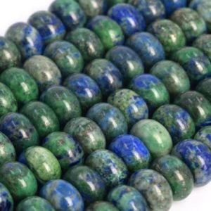 Shop Azurite Rondelle Beads! Natural Azurite Loose Beads Rondelle Shape 8x5mm | Natural genuine rondelle Azurite beads for beading and jewelry making.  #jewelry #beads #beadedjewelry #diyjewelry #jewelrymaking #beadstore #beading #affiliate #ad