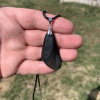 Banded Sheen Obsidian Necklace, Chakra Gemstone Pendant, Dragon Glass, Tumbled Rock Jewelry, Hippie Boho, Crystal, Polished Healing Stone   Natural genuine Gemstone jewelry. Buy crystal jewelry, handmade handcrafted artisan jewelry for women.  Unique handmade gift ideas. #jewelry #beadedjewelry #beadedjewelry #gift #shopping #handmadejewelry #fashion #style #product #jewelry #affiliate #ad