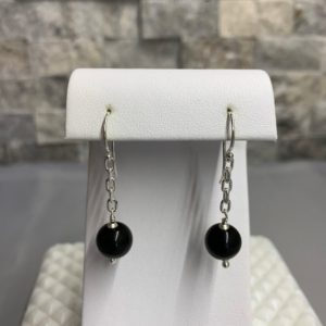Shop Rainbow Obsidian Earrings! Black Rainbow Obsidian Earrings | Natural genuine Rainbow Obsidian earrings. Buy crystal jewelry, handmade handcrafted artisan jewelry for women.  Unique handmade gift ideas. #jewelry #beadedearrings #beadedjewelry #gift #shopping #handmadejewelry #fashion #style #product #earrings #affiliate #ad
