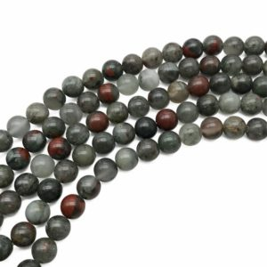 Shop Bloodstone Beads! 8mm Africa Bloodstone Beads, Round Gemstone Beads, Wholesale Beads | Natural genuine round Bloodstone beads for beading and jewelry making.  #jewelry #beads #beadedjewelry #diyjewelry #jewelrymaking #beadstore #beading #affiliate #ad
