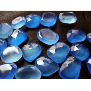 Shop Blue Chalcedony Stones & Crystals! 6 Pieces 14mm To 18mm Each Blue Chalcedony Rose Cut Loose Cabochons, Blue Color Flat Cabochon Gem Stones, RS2 | Natural genuine stones & crystals in various shapes & sizes. Buy raw cut, tumbled, or polished gemstones for making jewelry or crystal healing energy vibration raising reiki stones. #crystals #gemstones #crystalhealing #crystalsandgemstones #energyhealing #affiliate #ad