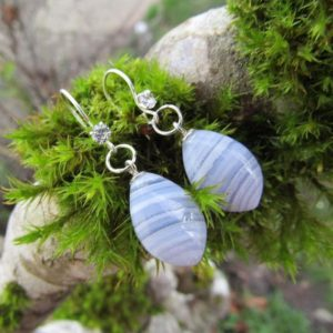 Shop Blue Lace Agate Earrings! Blue Lace Agate, Sterling Silver Earrings | Natural genuine Blue Lace Agate earrings. Buy crystal jewelry, handmade handcrafted artisan jewelry for women.  Unique handmade gift ideas. #jewelry #beadedearrings #beadedjewelry #gift #shopping #handmadejewelry #fashion #style #product #earrings #affiliate #ad