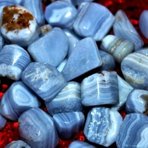 Shop Tumbled Blue Lace Agate Crystals & Pocket Stones! 100 Gr Natural Blue Lace Agate 6 Pc Healing Power Reiki Aura Meditation Metaphysical Power Tumbled Pebbles | Natural genuine stones & crystals in various shapes & sizes. Buy raw cut, tumbled, or polished gemstones for making jewelry or crystal healing energy vibration raising reiki stones. #crystals #gemstones #crystalhealing #crystalsandgemstones #energyhealing #affiliate #ad