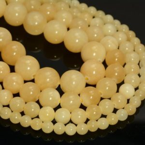 Natural Honey Calcite Gemstone Grade A Yellow Orange Smooth 4mm 6mm 8mm 10mm Round Loose Beads 15 inch Full Strand (A235) | Natural genuine beads Calcite beads for beading and jewelry making.  #jewelry #beads #beadedjewelry #diyjewelry #jewelrymaking #beadstore #beading #affiliate #ad