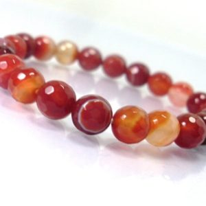Shop Carnelian Bracelets! Carnelian faceted  Bracelet,Natural Gemstone Bracelet,Unisex Women Bracelet, Handmade Beaded Bracelet, Beaded Bracelet | Natural genuine Carnelian bracelets. Buy crystal jewelry, handmade handcrafted artisan jewelry for women.  Unique handmade gift ideas. #jewelry #beadedbracelets #beadedjewelry #gift #shopping #handmadejewelry #fashion #style #product #bracelets #affiliate #ad