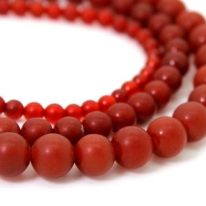 Shop Carnelian Round Beads! Matte Carnelian, Red Carnelian Matte Round Sphere Ball Loose Gemstone Beads – 4mm 6mm 8mm 10mm RN119 | Natural genuine round Carnelian beads for beading and jewelry making.  #jewelry #beads #beadedjewelry #diyjewelry #jewelrymaking #beadstore #beading #affiliate #ad
