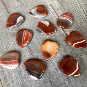 Shop Carnelian Shapes! Carnelian worry hearts WS7332 | Natural genuine stones & crystals in various shapes & sizes. Buy raw cut, tumbled, or polished gemstones for making jewelry or crystal healing energy vibration raising reiki stones. #crystals #gemstones #crystalhealing #crystalsandgemstones #energyhealing #affiliate #ad