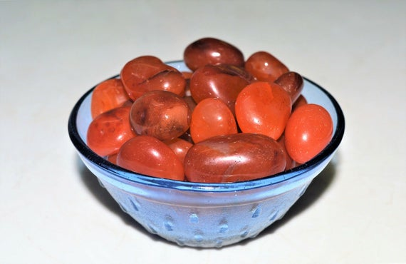 100 Grams Red Carnelian Quartz Reiki Healing Tumbled Pebbles Stone