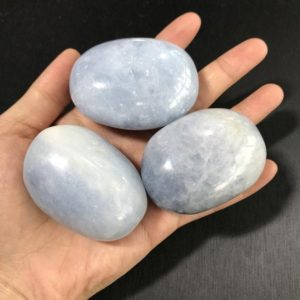 Shop Palm Stones! Large Celestite Palm Stone, Celestite, Polished Celestite, Polished Stones, Healing Crystals and Stones, Reiki Healing   Natural genuine stones & crystals in various shapes & sizes. Buy raw cut, tumbled, or polished gemstones for making jewelry or crystal healing energy vibration raising reiki stones. #crystals #gemstones #crystalhealing #crystalsandgemstones #energyhealing #affiliate #ad