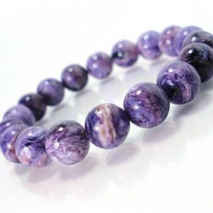 Shop Charoite Bracelets! Natural Charoite 10 mm Handmade Bracelet, Gorgeous Charoite, Womens Beaded Bracelet, Natural Gemstone Bracelet, Gift for Her + Gift Box | Natural genuine Charoite bracelets. Buy crystal jewelry, handmade handcrafted artisan jewelry for women.  Unique handmade gift ideas. #jewelry #beadedbracelets #beadedjewelry #gift #shopping #handmadejewelry #fashion #style #product #bracelets #affiliate #ad