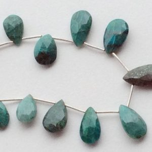 Shop Chrysocolla Bead Shapes! 13x8mm To 20x11mm Chrysocolla Beads, Chrysocolla Faceted Pear Beads, Chrysocolla Necklace, 14 Pieces Turquoise Blue Chrysocolla For Jewelry | Natural genuine other-shape Chrysocolla beads for beading and jewelry making.  #jewelry #beads #beadedjewelry #diyjewelry #jewelrymaking #beadstore #beading #affiliate #ad