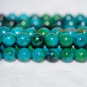 "Shop Chrysocolla Round Beads! 15.5"" 6mm/8mm/10mm Turquoise Chryscolla Round beads, Green blue gemstone DIY beads, gemstone wholesaler,manmade turquoise chrysocolla 